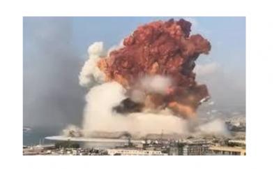 لحظات رهيبة في سماء بيروت